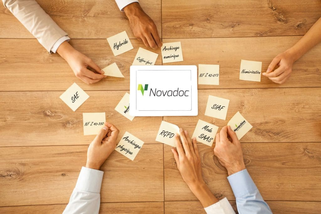 Novadoc achivage de documents mots clés
